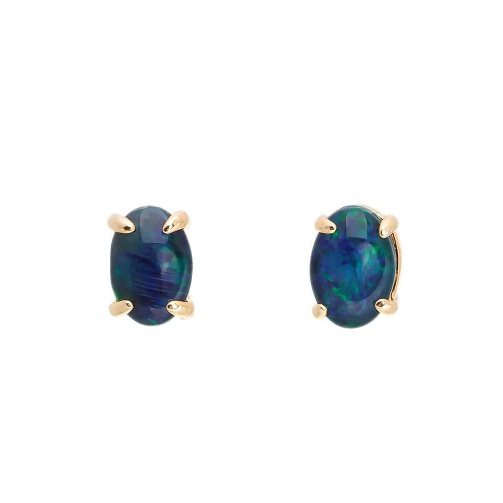 Romantic 18K Gold Plating Triplet Opal Set