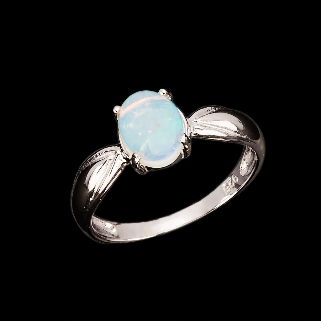 Romantic 18K White Gold Plating Natural Solid Opal Set