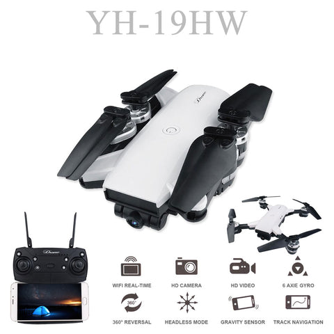 19HW RC Selfie Drone With 0.3mp/2mp HD WIFI FPV  Camera 6-Axis RC Helicopter Real Time Quadcopter vs Visuo XS809HW Eachine E58 - MyiCases