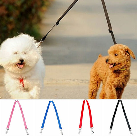1pcs Double Multiple Dual Couple 2 Way Two Pet Dogs Nylon Dog Pet Walking Leash Puppy Leads Hot - MyiCases