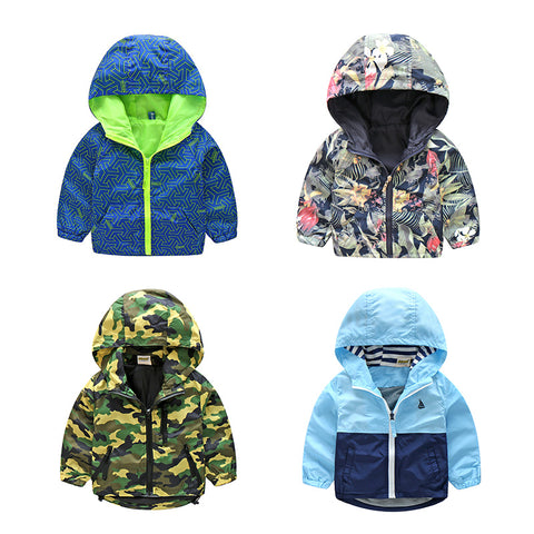 Camouflage Hooded Jackets For Boy Girls Outwear Clothes Kids Long Sleeve Windbreaker CMB319 - MyiCases