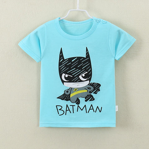 2018 New Fashion Cartoon 100% Cotton Short Sleeve Children Kids T-shirts 2-7 Years Boys Girls Tshirts Baby Girls Clothes  1 - MyiCases
