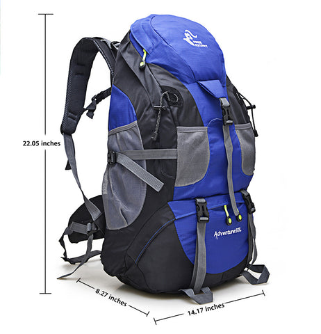50L Outdoor Backpack Camping Bag Waterproof Mountaineering Hiking Backpacks Molle Sport Bag Climbing Rucksack FK0396