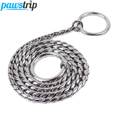 6 Size Durable Copper Dog Leash Outdoor Walking Training Snak Chain Dog Collar XS-XXL - MyiCases