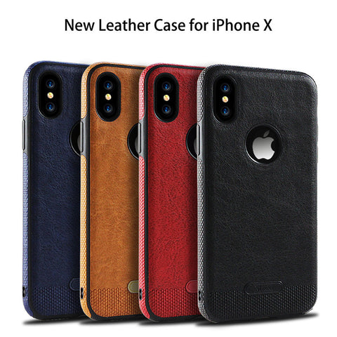 Aokin Luxury Business Leather Stitching Case For iPhone X 6 6s 7 8 Plus - MyiCases