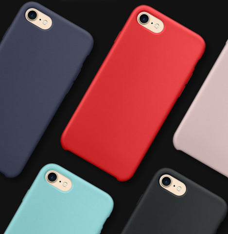 Apple Silicone Case for iPhone X 8 7 6 - MyiCases