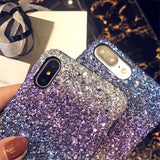 Bling Glitter Shining colorful Cases Flash Powder Case For iPhone X