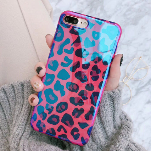 Blu-Ray Sexy Leopard Print Phone Case For iPhone 6 6S 7 8 Plus X - MyiCases