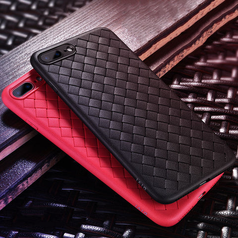 Classic BV Thin Soft Grid Silicone Case For iPhone X 8 7 6 6S Plus - MyiCases