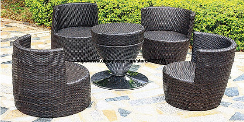 Creative Bottle Combination Outdoor Sofa Furniture Set Garden Chair Table Sofa Set Combination Wicker Patio Furniture HFA115 - MyiCases