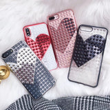 Electroplate Rivet Heart Case iPhone 6 6S 7 8 Plus X Fashion Cool Soft TPU - MyiCases