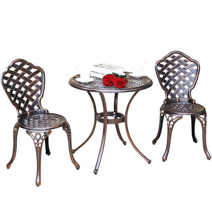 European style leisure outdoor tables and chairs garden cast aluminum tables and chairs set - MyiCases