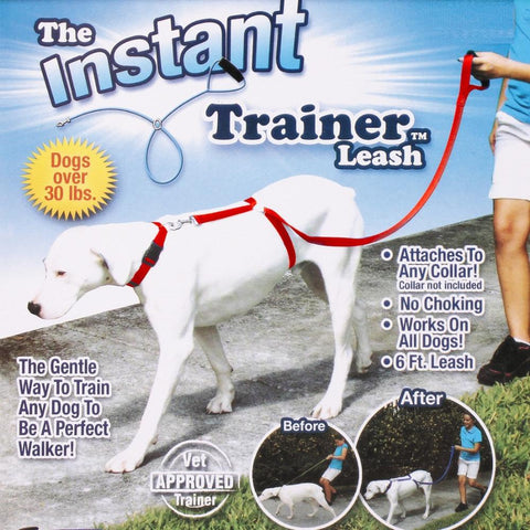 Instant Trainer Dog Leash Trains Dogs 30 Lbs Stop Pulling Tv Dogwalk Hot - MyiCases