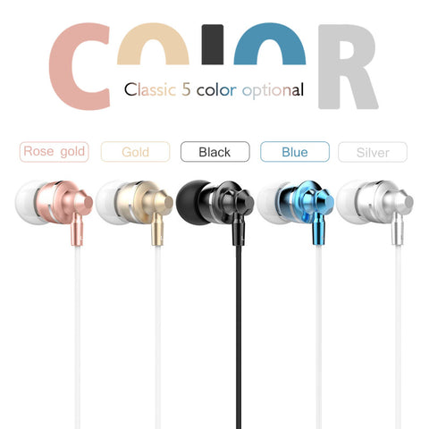 Langsdom M300 In-ear Earphone Metal Stereo Earphones with Mic Airpods