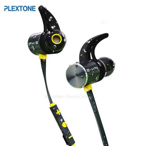 Plextone BX343 Wireless Waterproof Bluetooth Earbuds Magnetic with Microphone