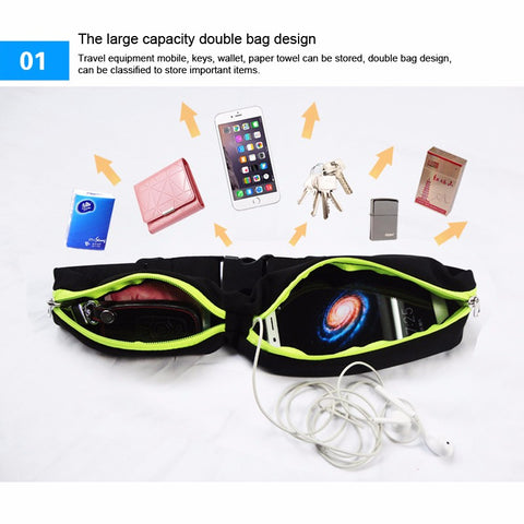 Running Waist Pocket Portable Waterproof Outdoor Phone Belt Sport Bag