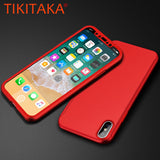 360 Full Cover Case for iphone X Fitted Cases Luxury Ultra thin Hard Shockproof Armor Phone Cases With Glass Screen Film Shell - MyiCases