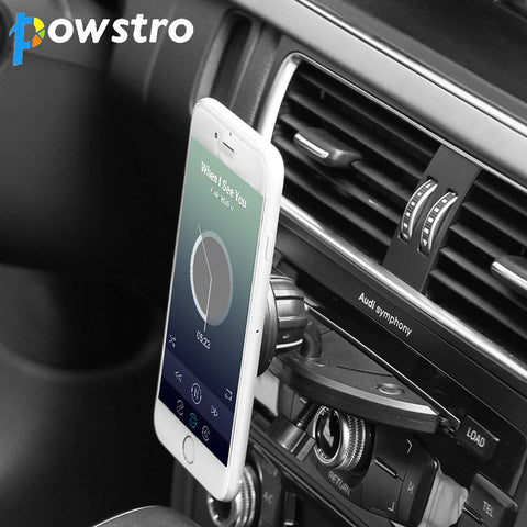 Powstro Car Mount Phone Holder Magnetic CD Slot Car Smartphone 360 Degree Stand for iPhone X Samsung S8 GPS Tablets - MyiCases