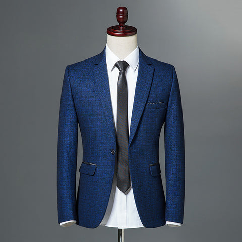 2018 Autumn Classic Mens Self-cultivation Leisure Blazer Single Button Slim Fit Business Casual - MyiCases