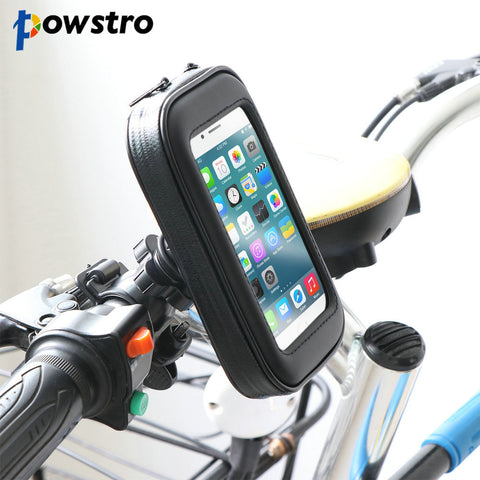 Powstro 4.7 5.5 inch Motorcycle Bicycle Bike Handlebar Phone Holder Mount Bracket Stand Waterproof Case Bag For iphone Samsung - MyiCases