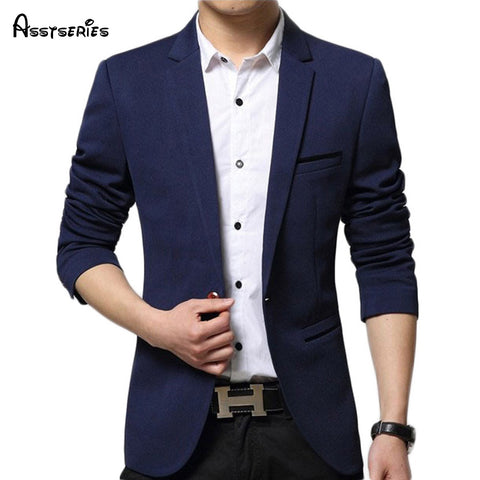 Mens Korean Slim Fit Fashion Cotton Blazer 60hfx - MyiCases