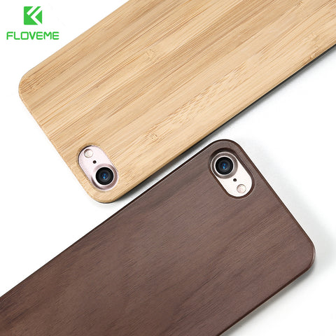 FLOVEME Wooden Case For Samsung Galaxy S8 S6 S7 Edge Natural Bamboo Protective Cover For iPhone 7 6 6S Plus Phone Cases - MyiCases