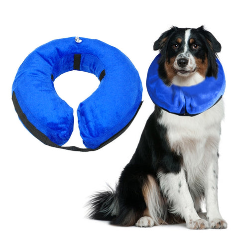 Protective Inflatable Collar Pet Cone E-Collar Soft Pet Recovery Collar