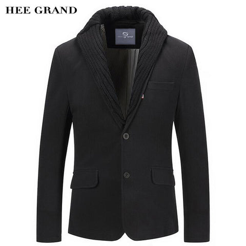 HEE GRAND Men Blazer Single Breasted Special Collar Design Slim MWX388 - MyiCases