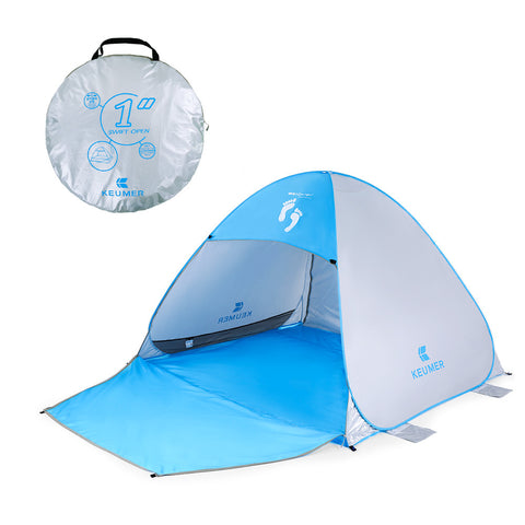 "Instant Automatic Pop Up Beach Tent (71"" + 37"") * 79"" * 53"" - MyiCases"