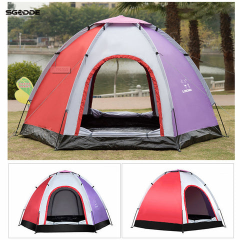 SGODDE 6 Person Outdoor Automatic Instant Tent Throwing Pop-Up Hiking Fishing Camping Beach Tent Set Waterproof Large Tents