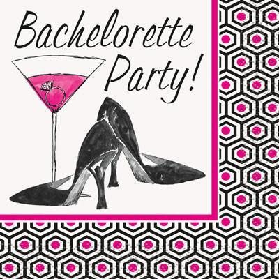Bachelorette Party Heels Napkin, beverage-16 pk - Bachelorette Superstore - Bachelorette Party Ideas