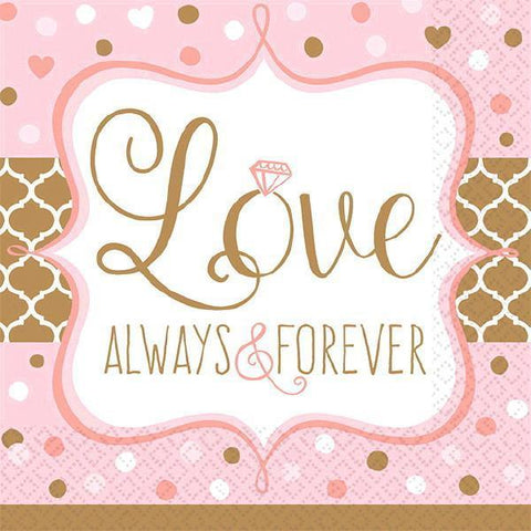 Always & Forever Napkins, 16 ct. - Bachelorette Superstore - Bachelorette Party Ideas