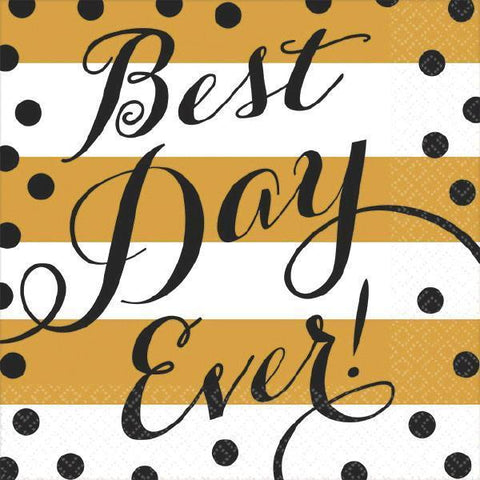 Best Day Ever! Napkins, bev. 16pk - Bachelorette Superstore - Bachelorette Party Ideas
