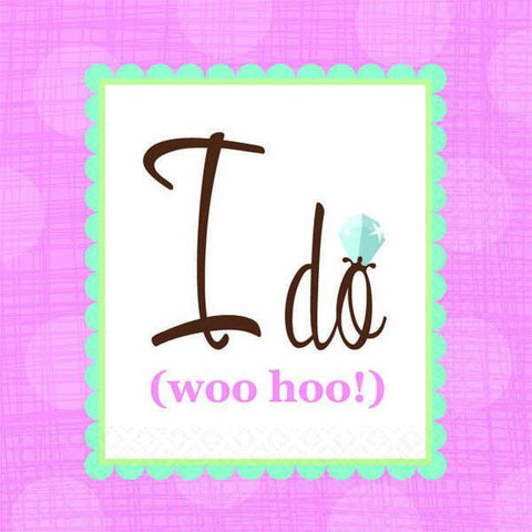 I do (woo hoo!) napkins, bev. 16pk - Bachelorette Superstore - Bachelorette Party Ideas