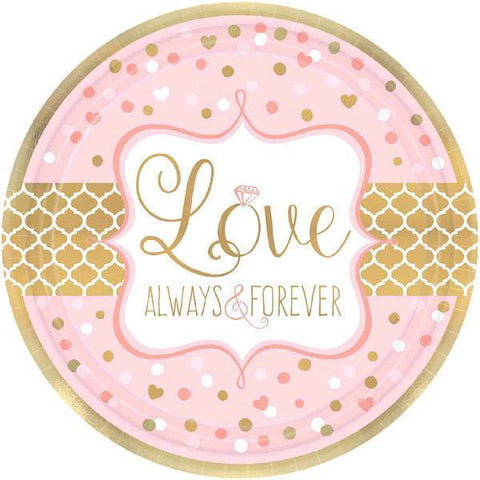 "Always & Forever Plates, 7"" 8ct. - Bachelorette Superstore - Bachelorette Party Ideas"