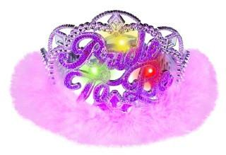 "Light-Up ""Bride to Be"" Marabou Tiara"