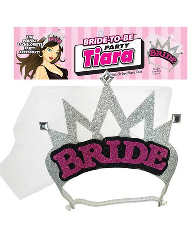 Silver Bride Tiara & Veil - Bachelorette Superstore - Bachelorette Party Ideas