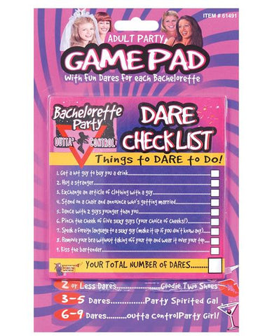 Bachelorette Party Dare Checklist - Bachelorette Superstore - Bachelorette Party Ideas