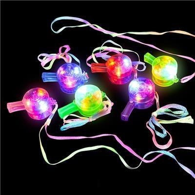 Light Up Whistle necklaces, 1 pc
