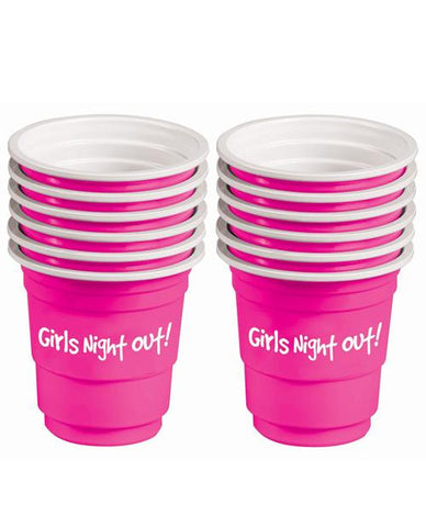 Girls Night Out Shotglasses- 12 pack - Bachelorette Superstore - Bachelorette Party Ideas