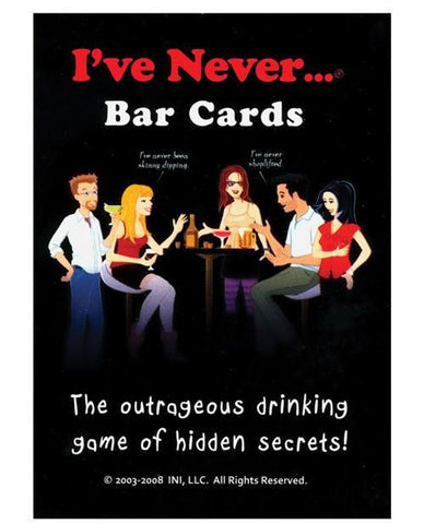 I've Never.... Bar Cards - Bachelorette Superstore - Bachelorette Party Ideas