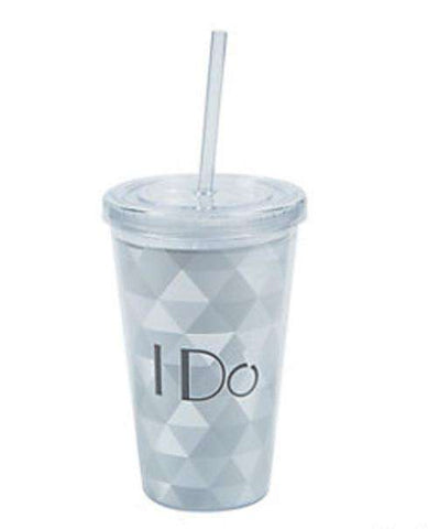 I Do Plastic Tumbler w/ Straw