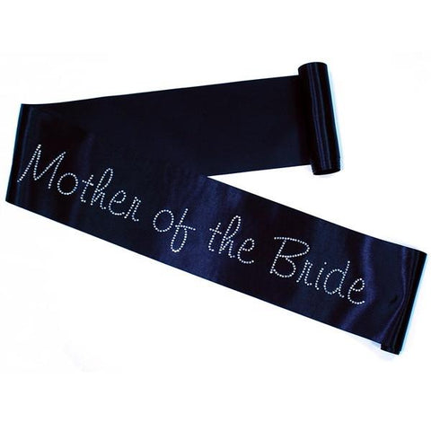 "Rhinestone ""Mother of the Bride"" Sash- choose your sash color"