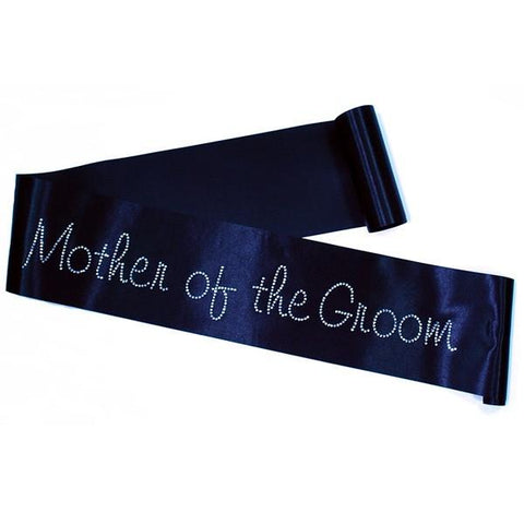 "Rhinestone Sash ""Mother of the Groom""- choose your sash color"
