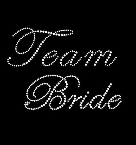 "Rhinestone ""Team Bride"" Tank Top or T-shirt"