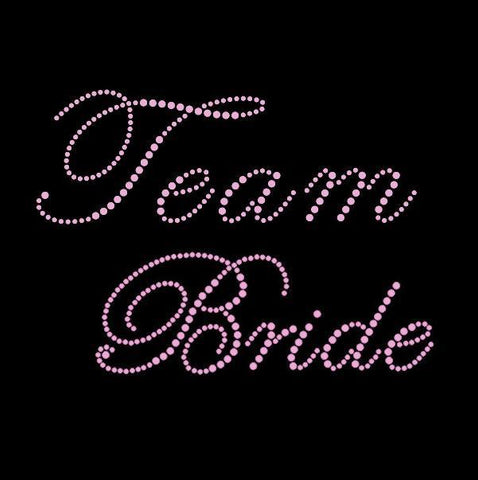"Pink Rhinestone ""Team Bride"" Tank Top or T-shirt"