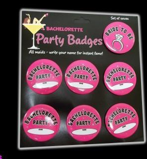 Bachelorette Party Badges - Bachelorette Superstore - Bachelorette Party Ideas