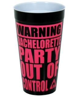 WARNING: Bachelorette Party Drinking Cup