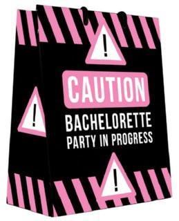 Caution: Bach Party in Progress Gift Bag - Bachelorette Superstore - Bachelorette Party Ideas