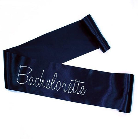 Black Rhinestone Bachelorette Sash - Bachelorette Superstore - Bachelorette Party Ideas